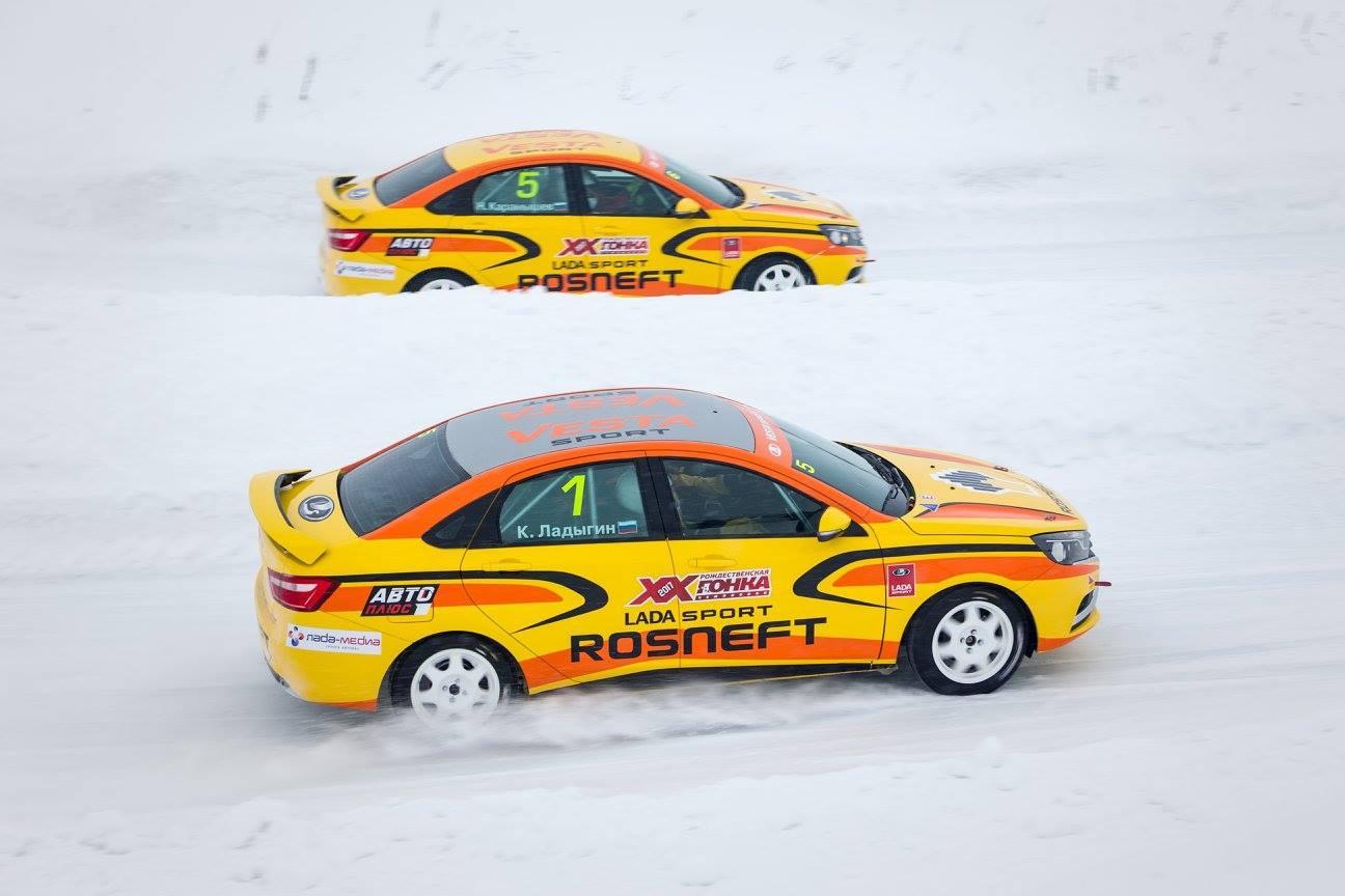 Рождественская Гонка Чемпионов прошла в 20-й раз, и впервые – на LADA Vesta. Кирилл Ладыгин стал победителем гонки в пятый раз
