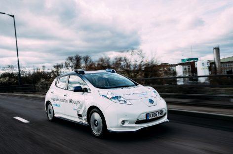 Nissan проводит тесты автомобилей с системой автономного управления на дорогах Европы