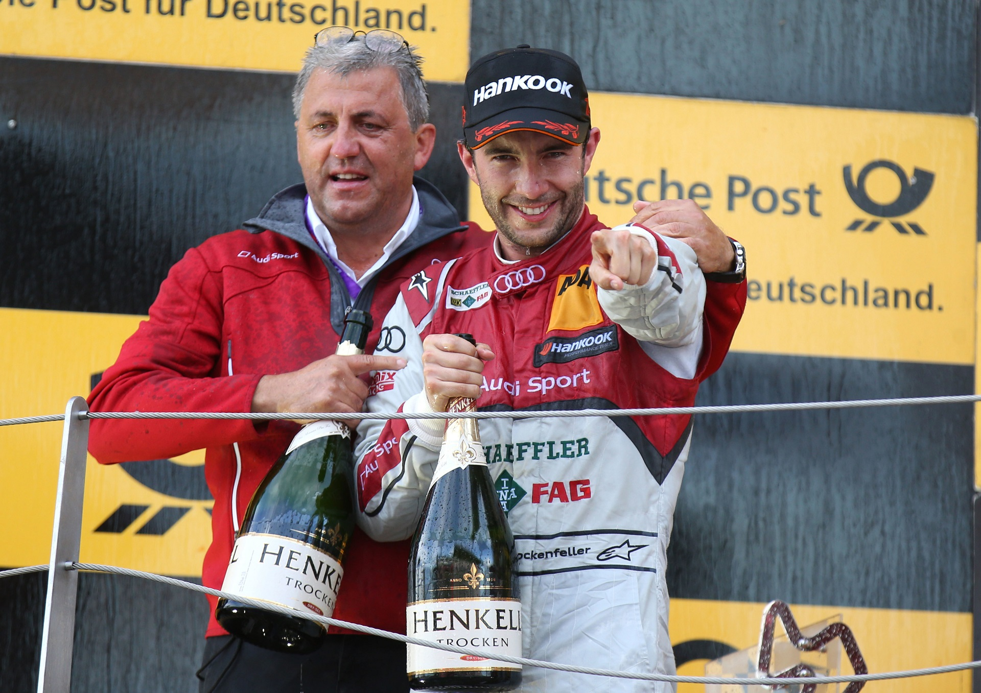 Ernst Moser (Head of Audi Sport Team Phoenix), Mike Rockenfeller