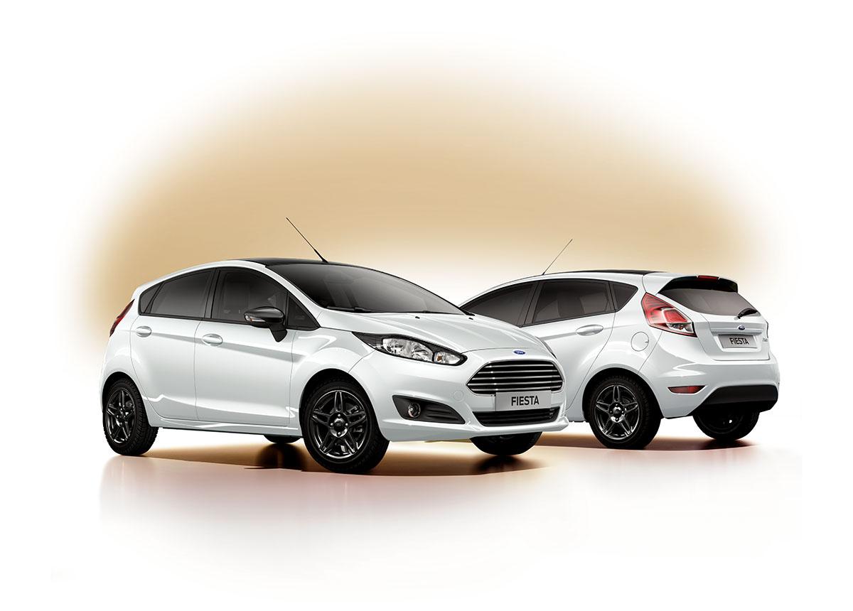 Fiesta White and Black