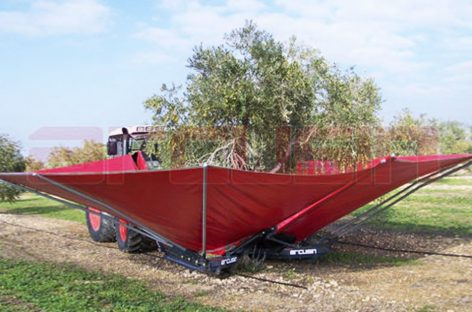 Приспособление для сбора орехов, оливок и маслин — телескопический вибратор с зонтом