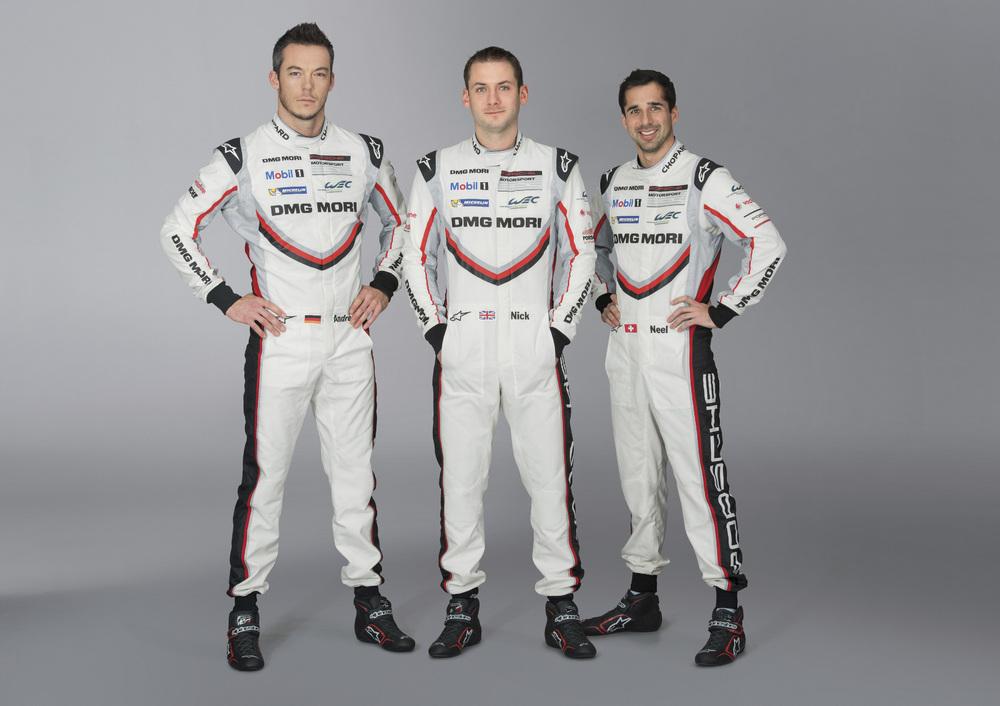 André Lotterer, Nick Tandy, Neel Jani, Porsche 919 Hybrid, Startnummer 1