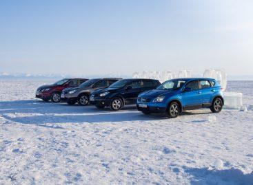Qashqai на льду Байкала