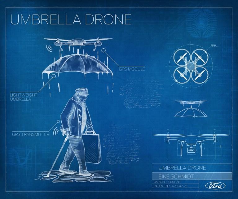 Робот-зонтик «Stay Dry Drone», «Last Mile Mobility Challenge»