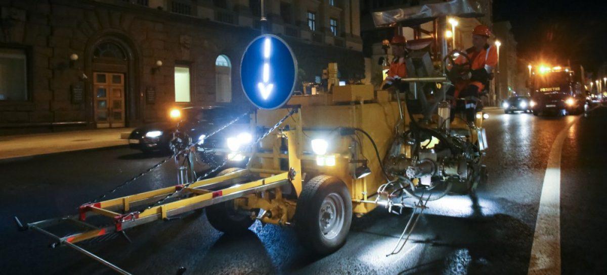 В Москве обновят дорожную разметку