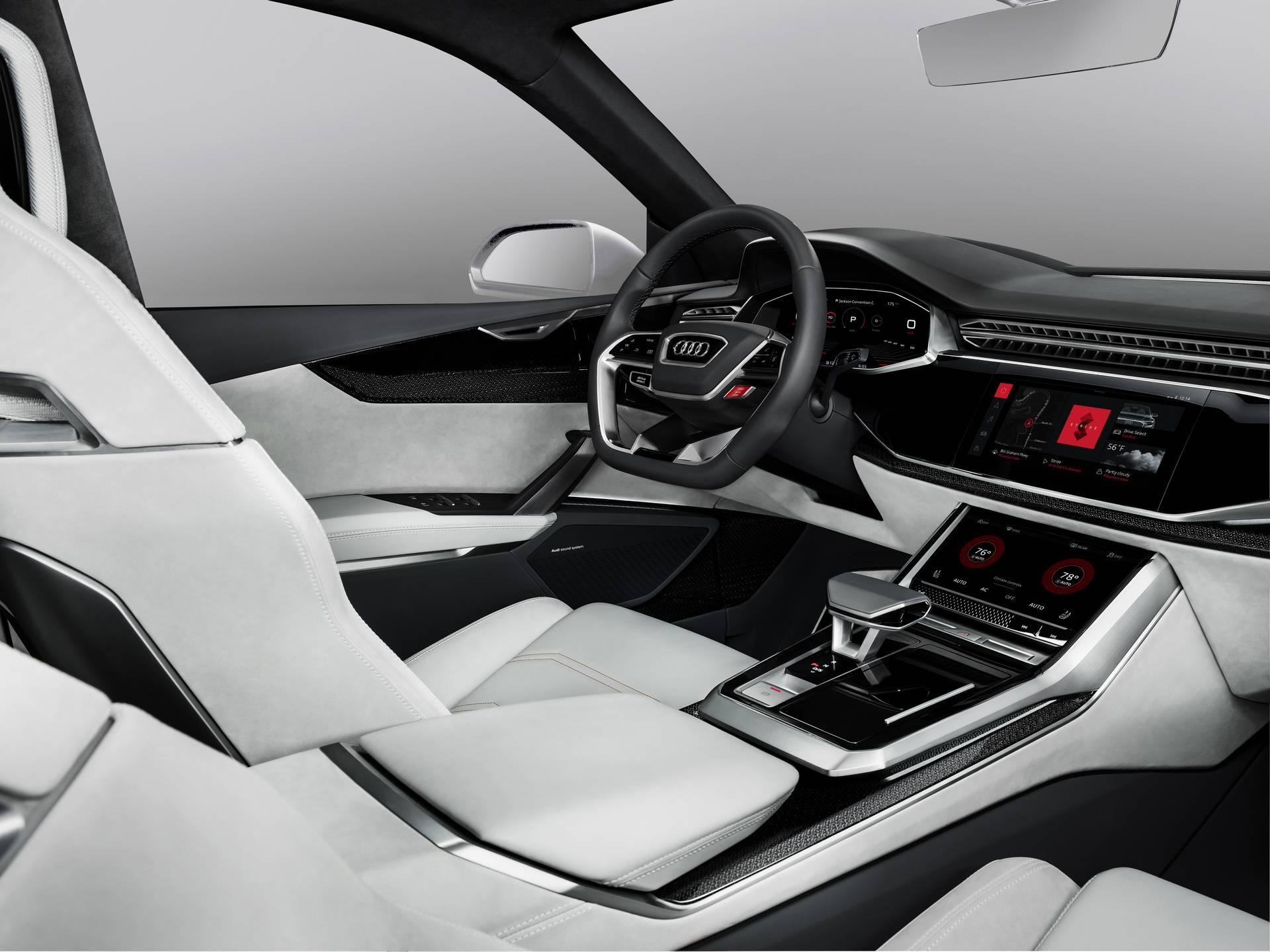 Audi Q8 sport concept с интегрированным Android