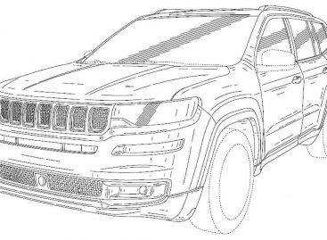 Вышли в свет официальные эскизы 7-местного SUV от Jeep
