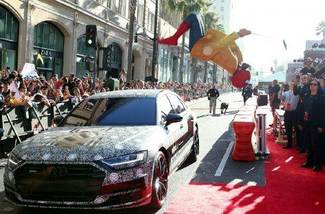 Audi A8 на премьере «Человек-паук: Возвращение домой»