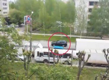 Видео проезда кортежа патриарха Кирилла