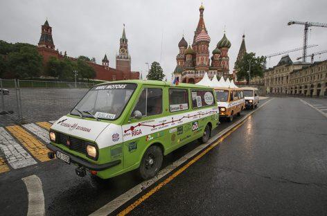 Пробег на РАФах в Москве