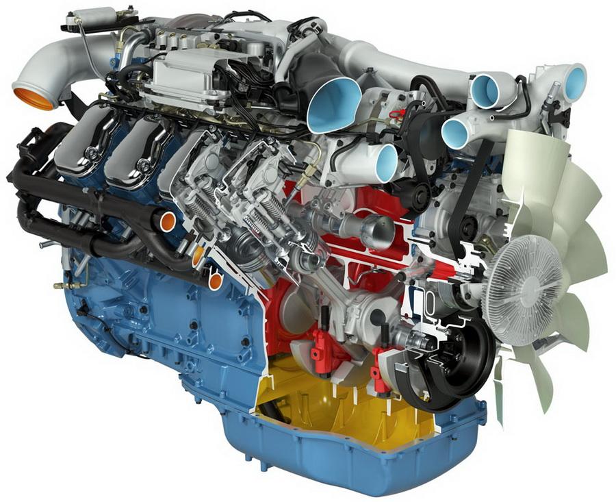 двигатель Scania 16-litre 730 hp V8