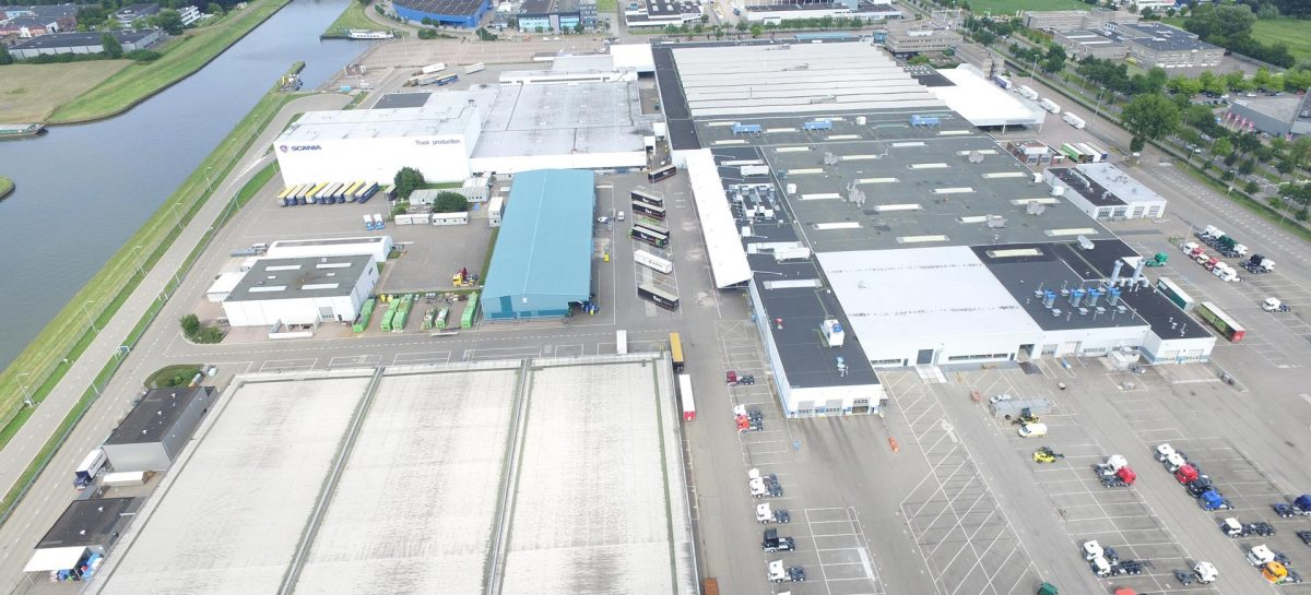 Scania установит в Нидерландах самую большую крышу из солнечных батарей