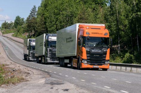 Scania начинает испытания беспилотных автоколонн