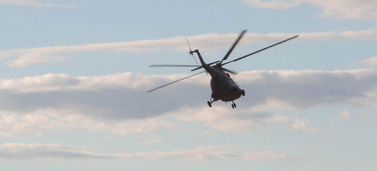 Вертолет Патриарха потеснил автомобили на парковке