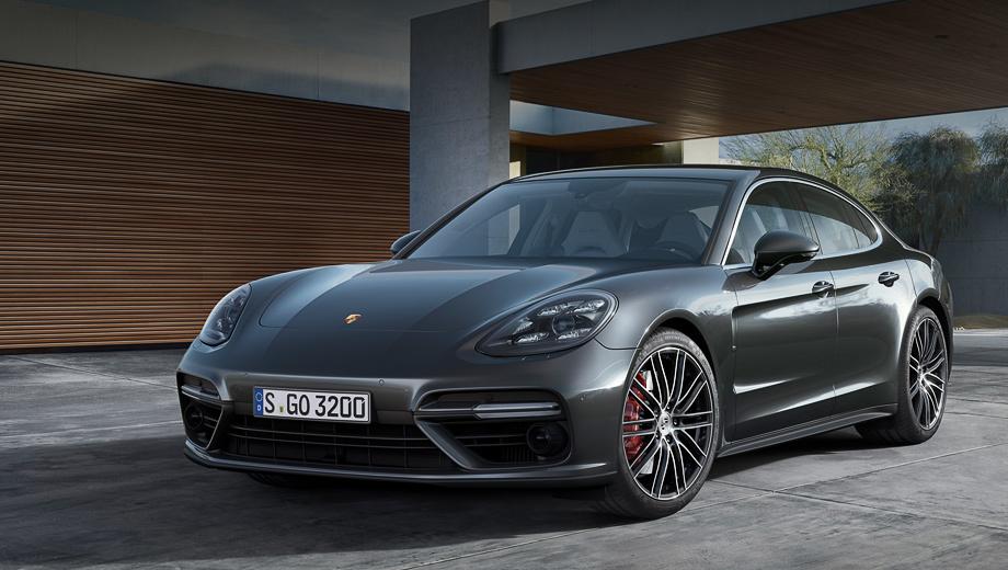 Porsche Panamera — пятидверный спортивный фастбэк класса Гран Туризмо с переднемоторной компоновкой и полным или задним приводом.