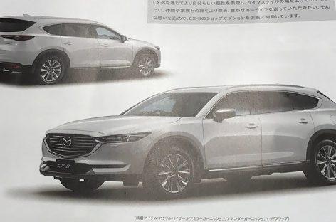 Внешность семиместного кроссовера Mazda CX-8 рассекретили в брошюре