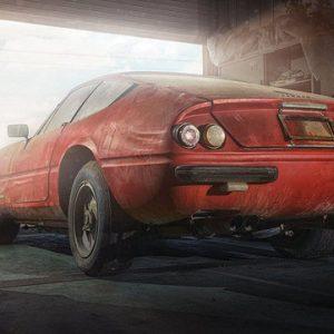 Ferrari, простоявшая в гараже 40 лет