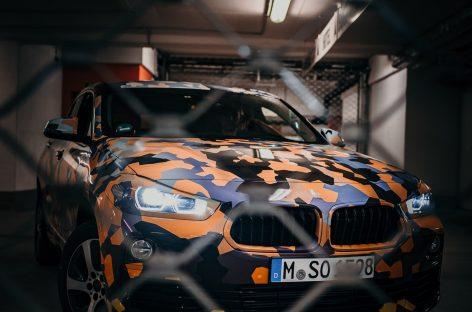 Новый BMW X2 в комуфляже «Городские джунгли»