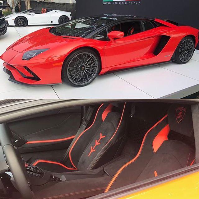 Lamborghini Aventador S цвет arancio xanto