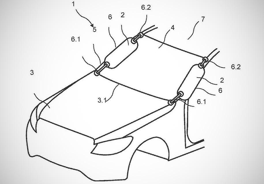 Mercedes-Benz внешние подушки безопасности