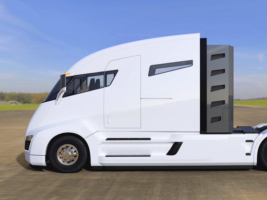 От 200 до 300 миль будет составлять рабочий диапазон грузовика на электротяге от компании Tesla