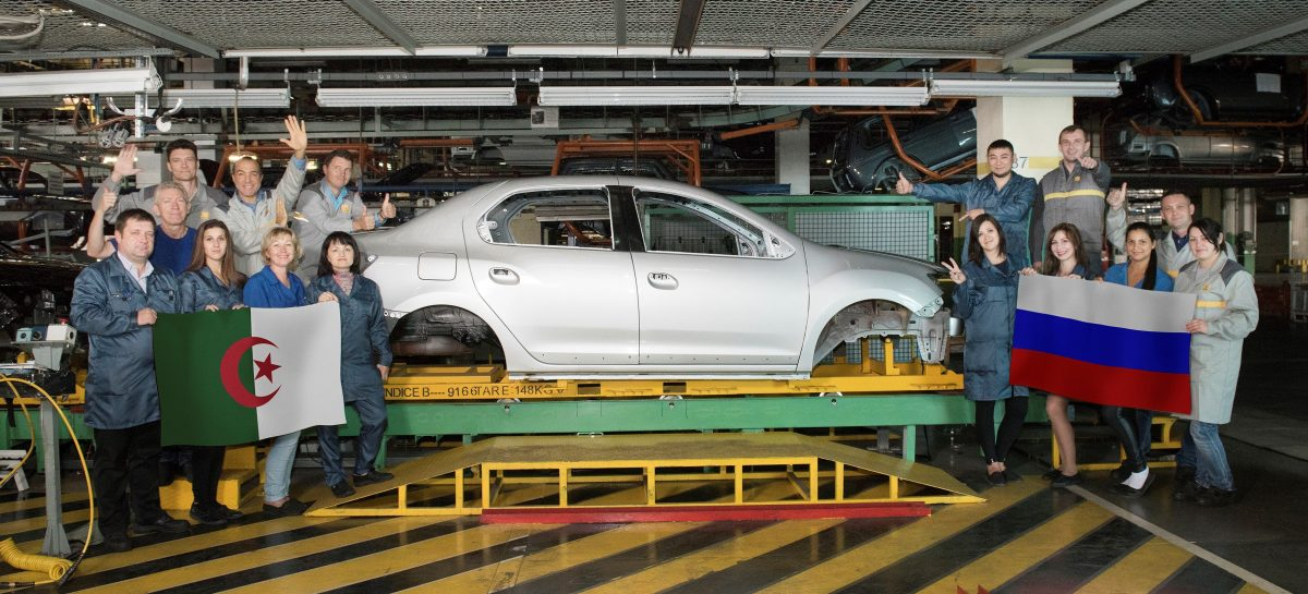 Renault Россия отправила 10 тысяч кузовов Logan в Алжир