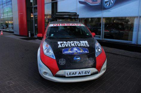 Первые на электромобиле в Mongol Rally