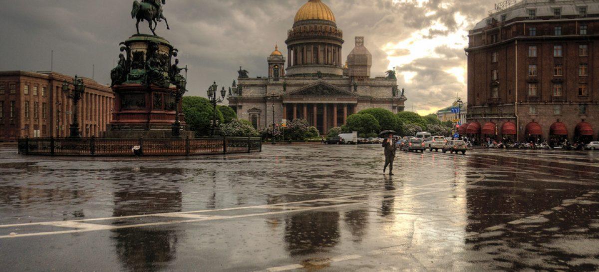 В понедельник в Петербурге сильный ветер, дожди