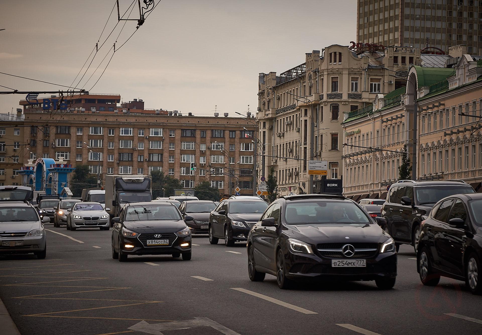 Москва пробки движение транспорт центр садовое кольцо Новый Арбат парковка остановка общественный транспорт