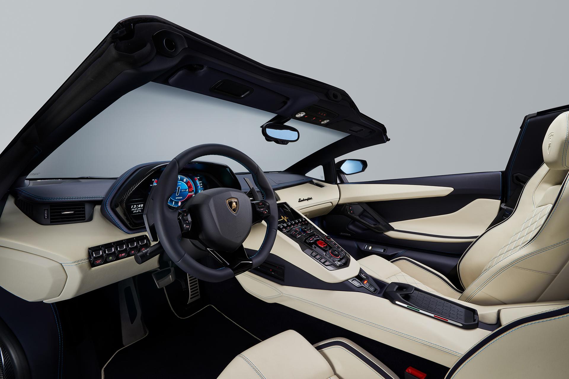 Lamborghini Aventador S Roadster салон панель