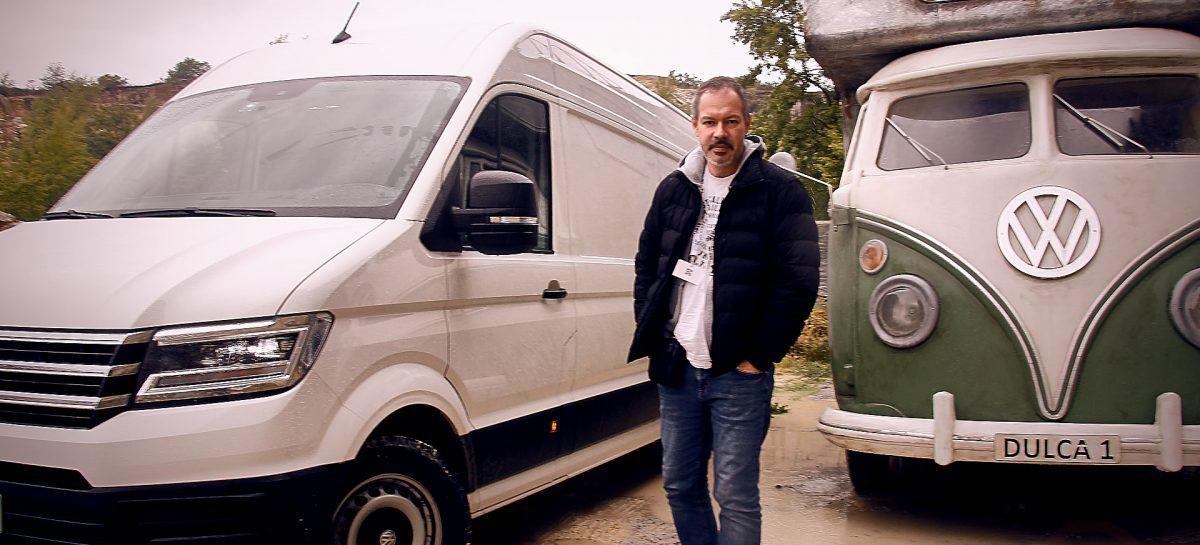 Volkswagen Crafter в Австрийских полях