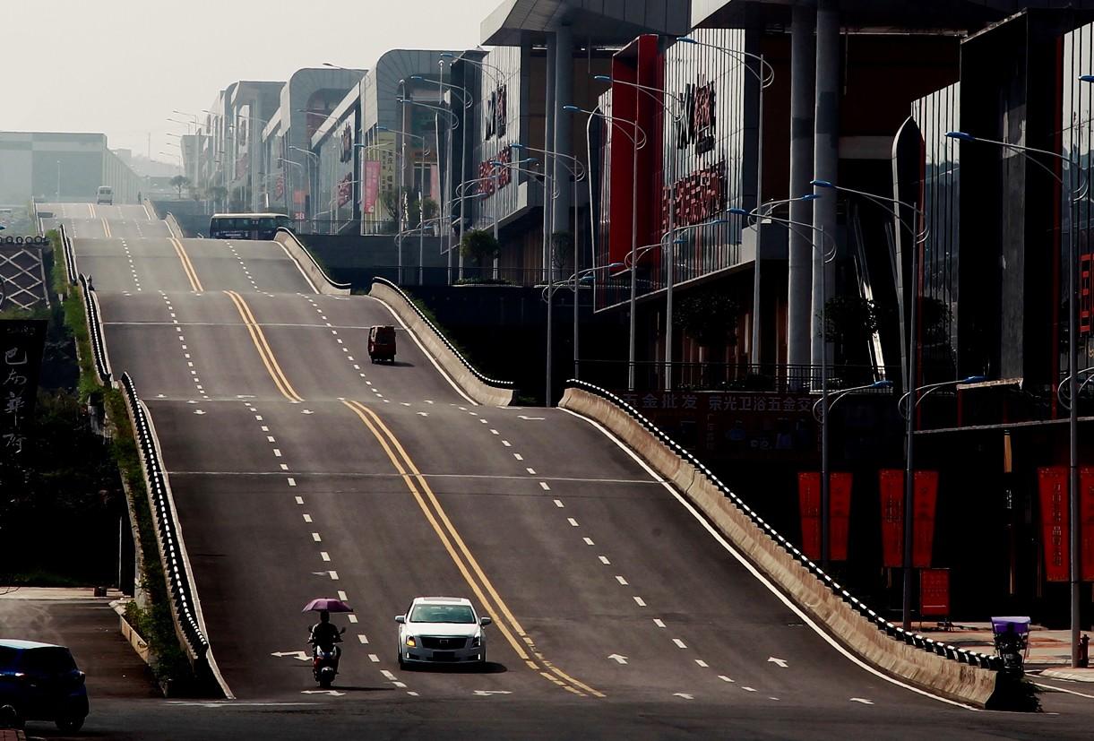 Волнообразная дорога Китая