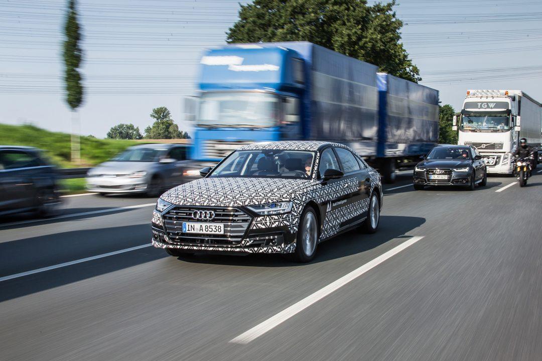 автопилотирование в условиях пробок Audi AI traffic jam pilot