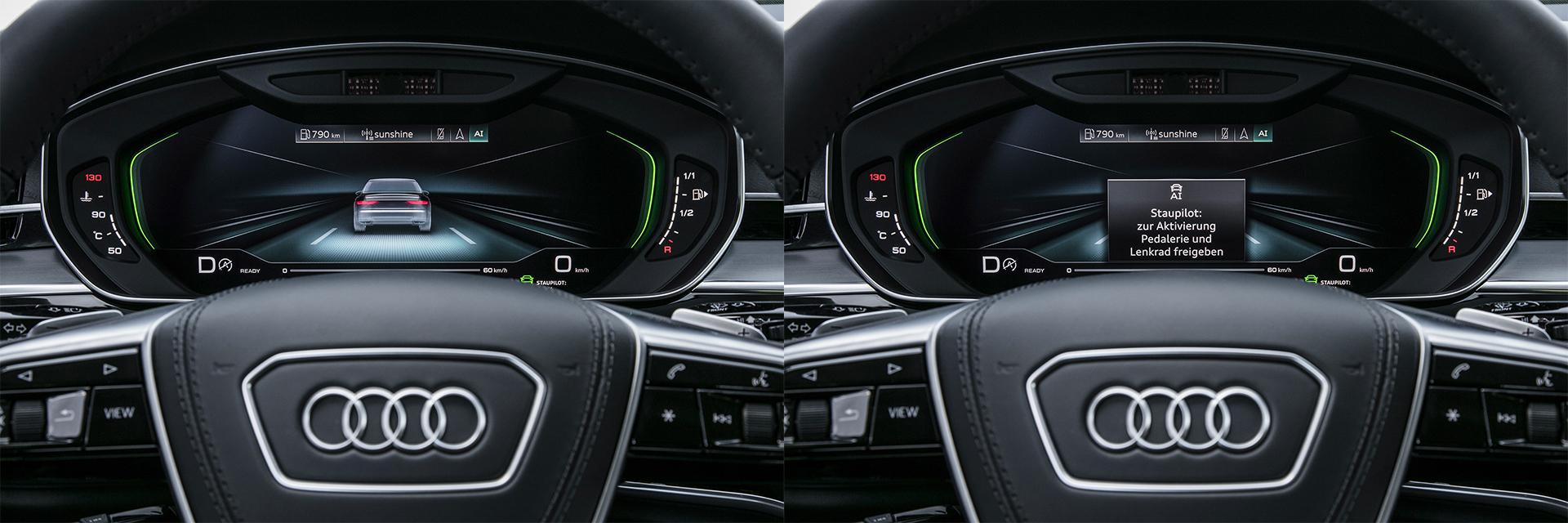 Ассистент движения в условиях пробок Audi AI traffic jam pilot_5