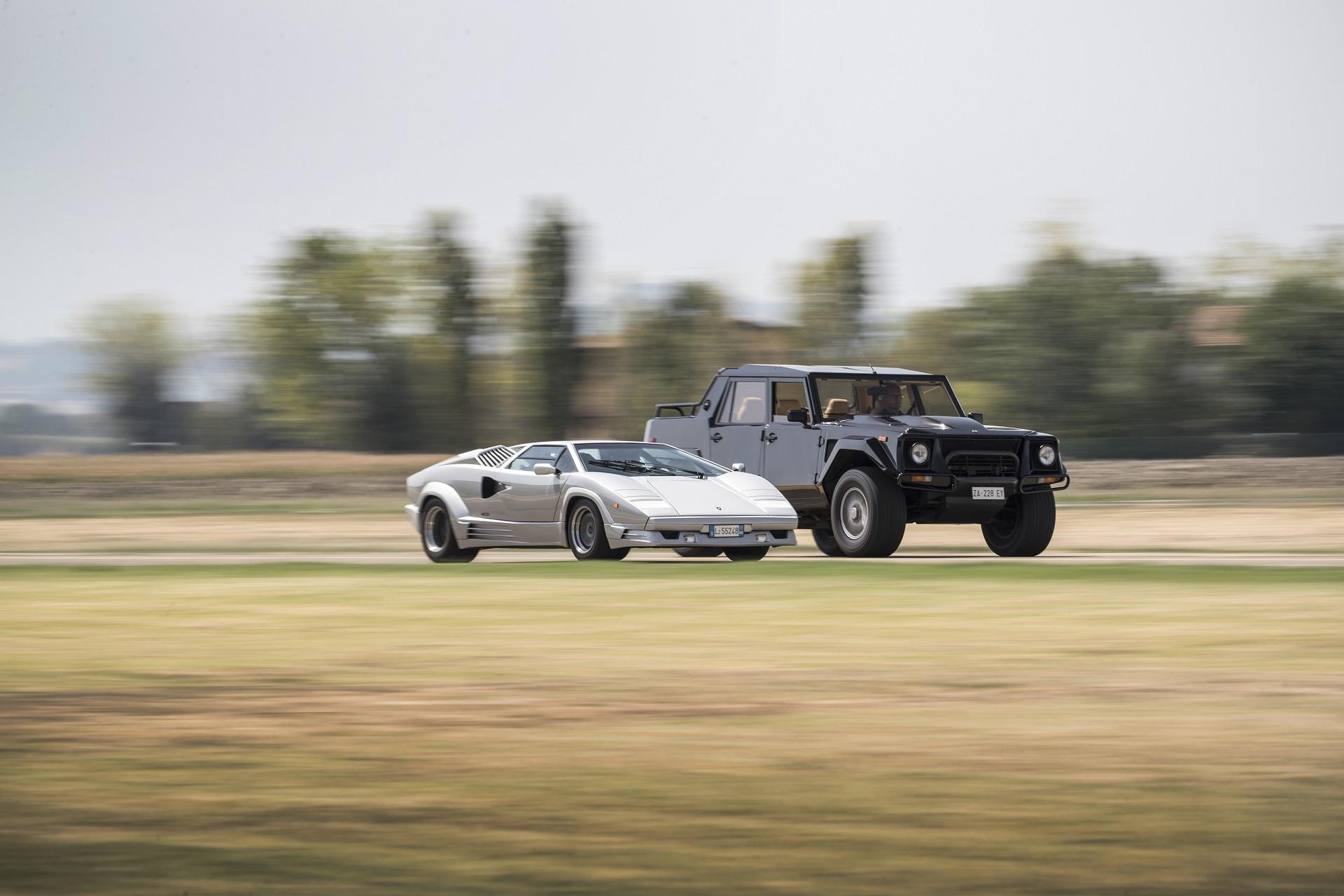Lamborghini LM002 and Countach