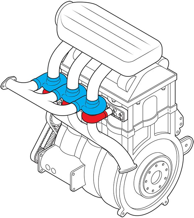 двигатель с наддувом для каждого цилиндра
