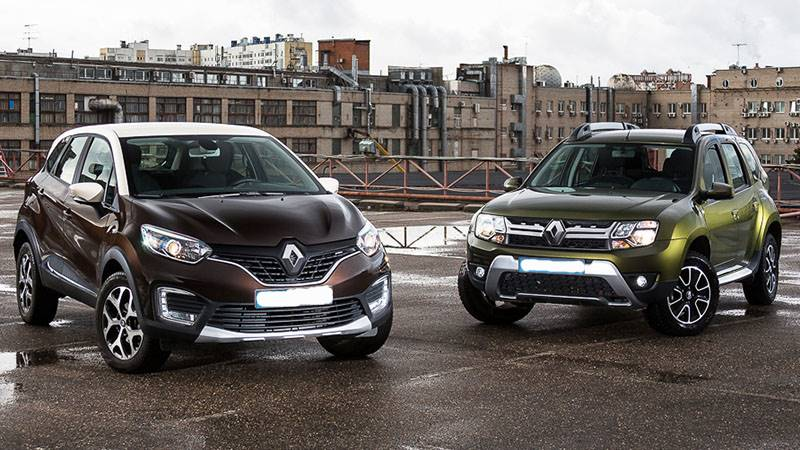 Renault kaptur and duster