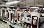Новый комплекс для зарядки автомобилей Tesla