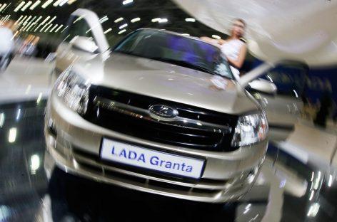 Lada Granta и смартфон