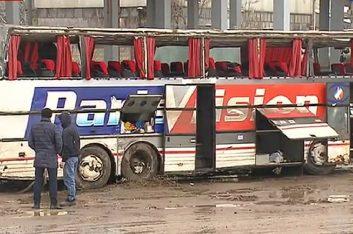 Пассажирский автобус улетел с трассы М4