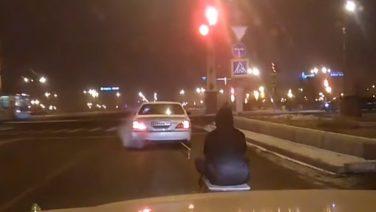 На санках по Чите (видео)
