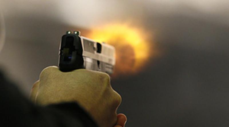 пистолет выстрел