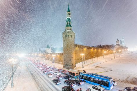 На Москву идёт снежный шторм