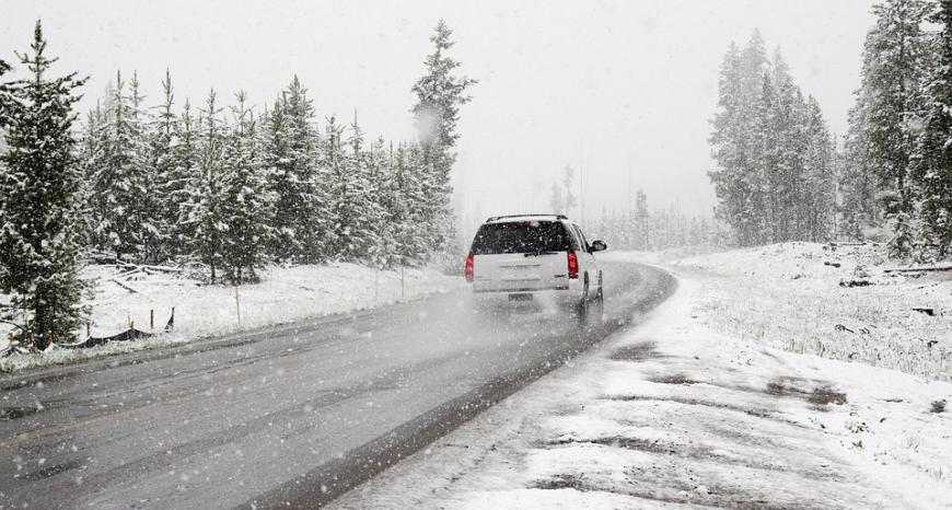 снегопад автомобиль