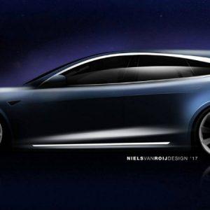 Tesla Model S в новом дизайне и новом кузове