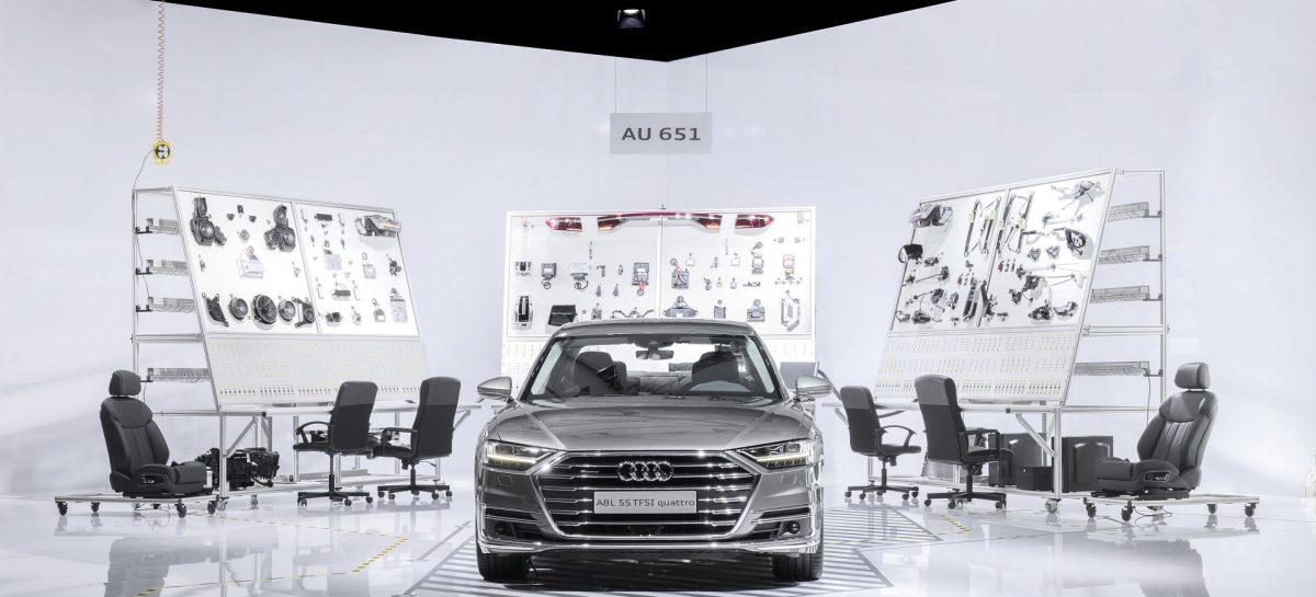 Audi представила точную копию испытательной системы нового A8