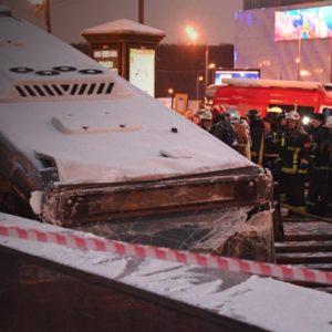 СКР признал исправным въехавший в переход на Славянском бульваре автобус
