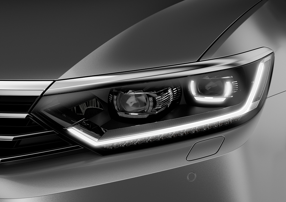 Volkswagen, Passat, LED Lights, фары