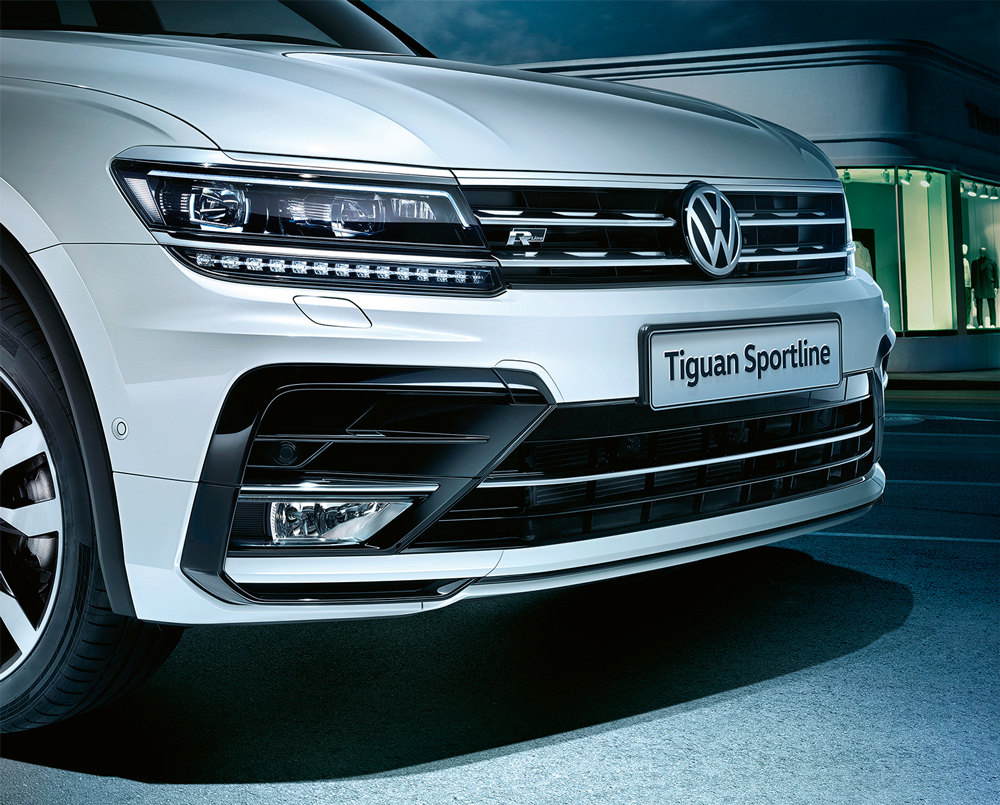 Volkswagen, Tiguan, LED Lights, фары