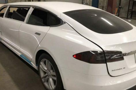 Единственный лимузин Tesla Model S выставили на продажу